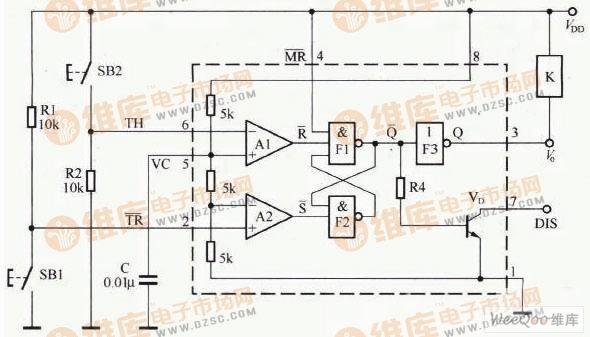 【图】双稳态开关控制电路图555-触发开关