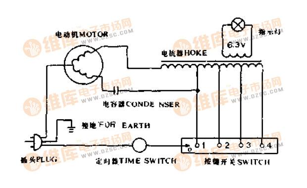 常见的普通电风扇接线电路