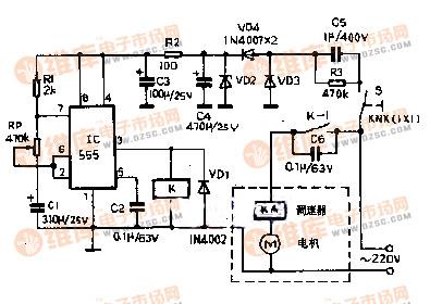 【图】电风扇加装阵风控制器电路图电机控制专区
