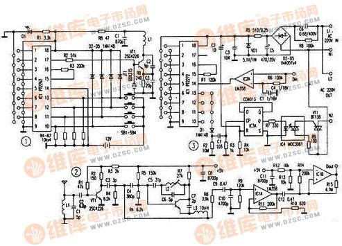 【图】多通道无线遥控开关电路图开关电路