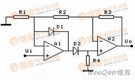 增益大于1的复合放大器型全波整流电路