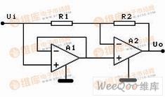 单电源运放无二极管型全波整流电路