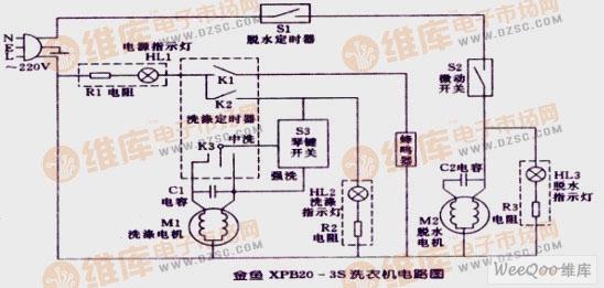 单相电机电容接线电路图