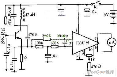 简易金属探测器电路图