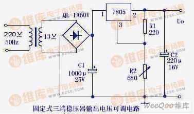 【图】可调直流稳压电源电路图稳压电源