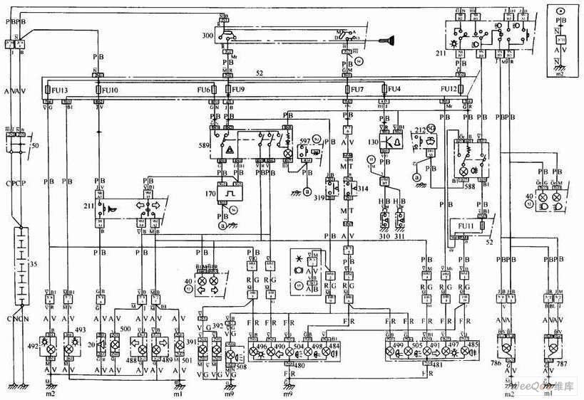 【图】车外照明与信号系统电路原理图其它电路图