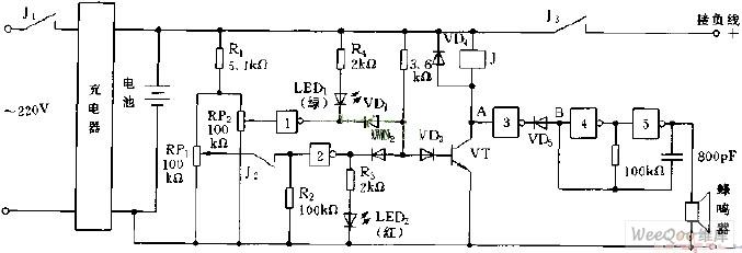 电池充电监视电路原理图