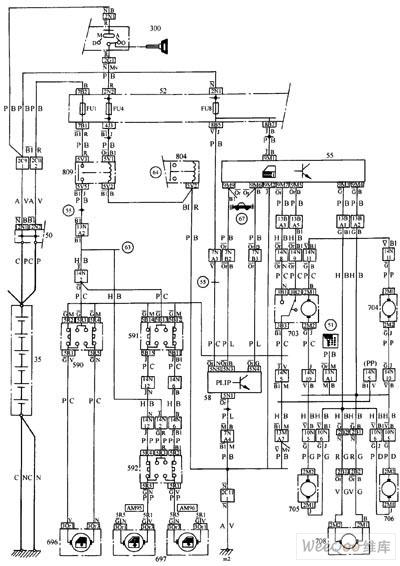 中央门锁及电动车窗电路原理图其它电路图 电路图 捷配电子市场网图片