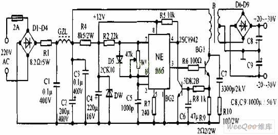 实用简单的开关整流电源电路图