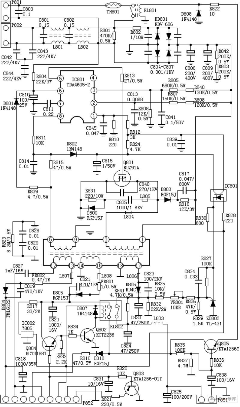 C7458_A4开关电源电路
