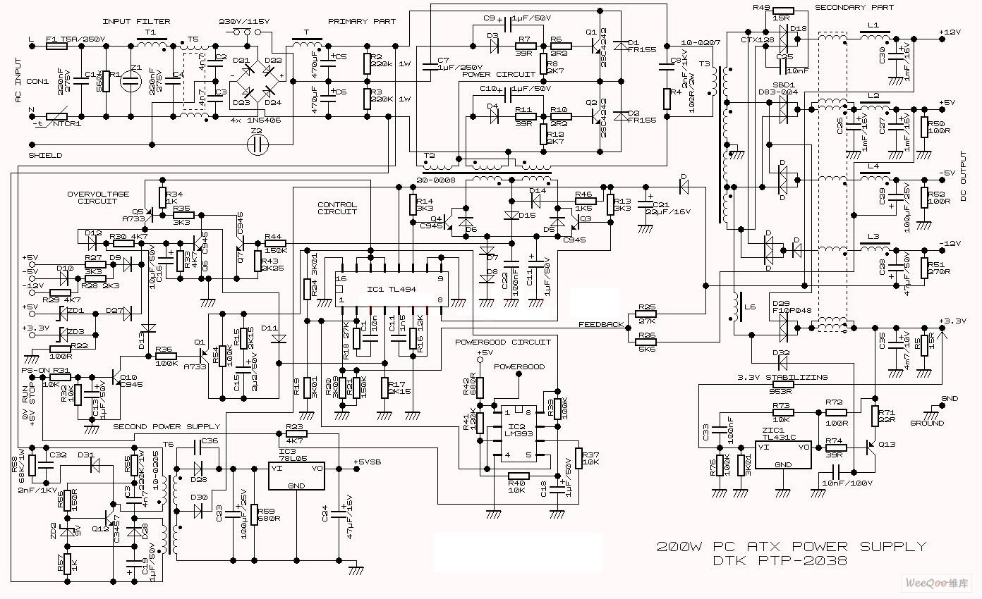 【图】200w开关电源电路图电源电路