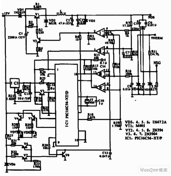 摩托罗拉888型移动电话充电器电路