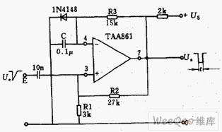 采用运算放大器的单稳态电路