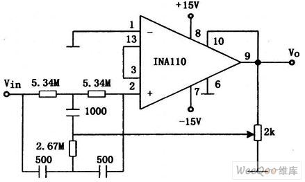60Hz输入陷波滤波电路