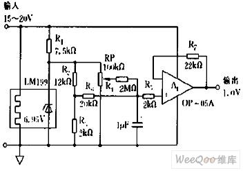 采用LM199构成的标准电源电路图