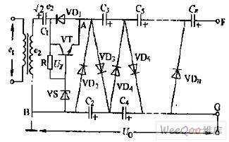 输出电压可调的稳压式多倍压整流电路