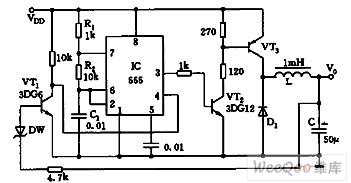 简易的感应开关式电源电路图