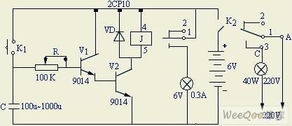 一款简易的延时开关电路开关电路 电路图 捷配电子市场网图片