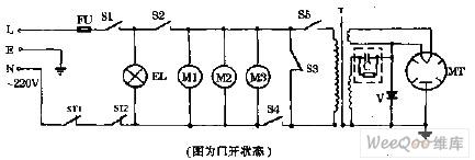 万和WK237机械式微波炉电路图