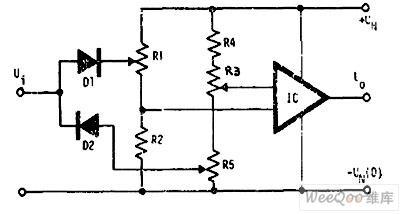 带运放的高低电平比较器电路