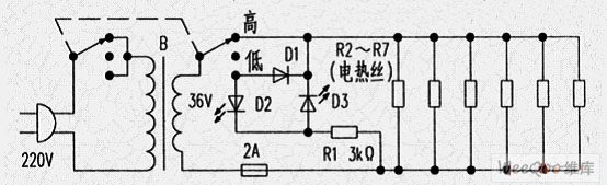 【图】安全电压电热毯电路图其它电路图