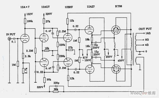 麦景图MC-275电子管<a href=http://www.dziuu.com/gongfangdianlu/ target=_blank class=infotextkey>功放电路</a>图