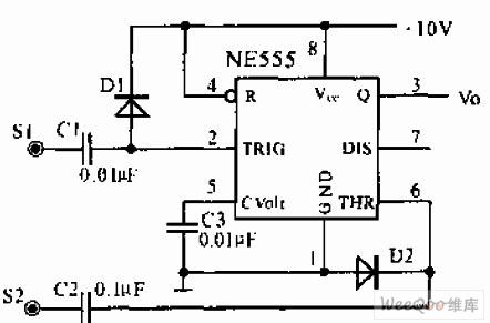 双触片开关信号输入电路