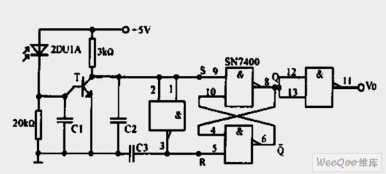 光电二极管脉冲录入电路