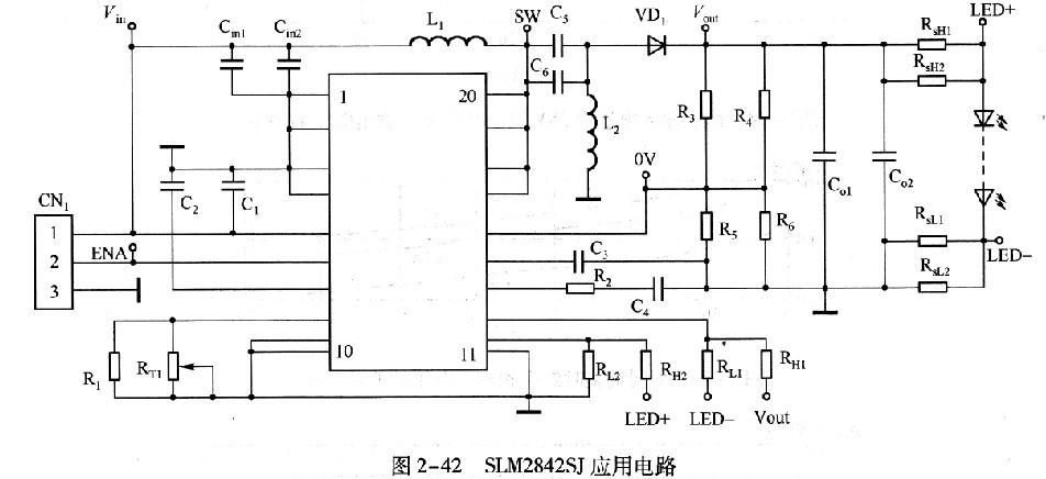 SLM2842SJ应用电路
