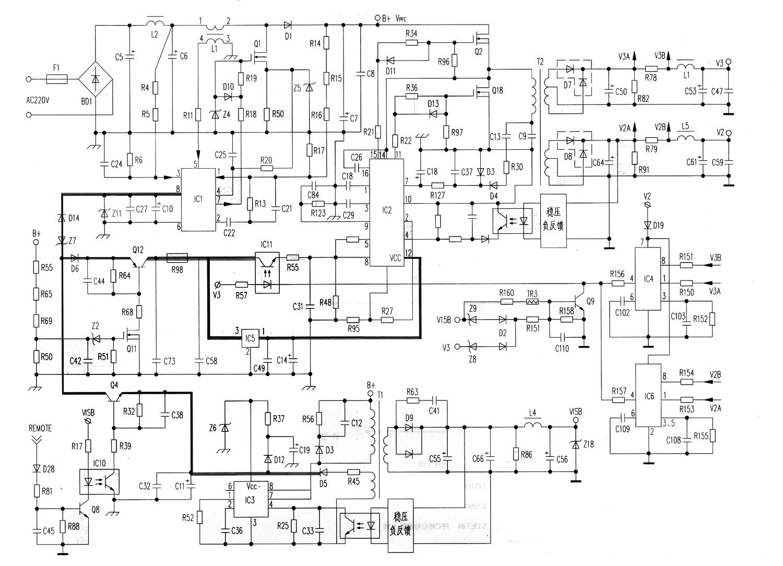 力信LCD开关电源部分电路图