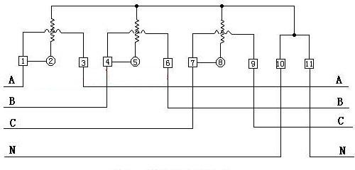 【图】三相电度表接线电路图基础电路