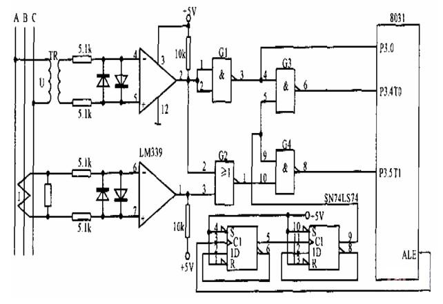 关于三相电网测量接口电路图