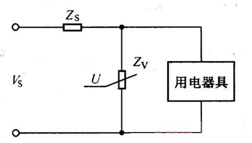 压敏电阻器的阻抗原理电路图