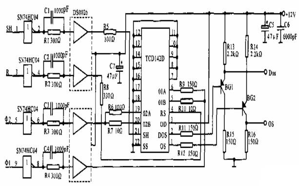 关于线阵CCD接口电路图