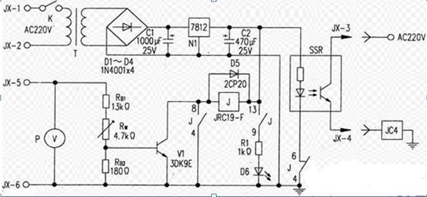 一款调频发射机过压保护电路图