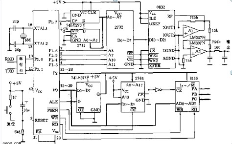 【图】一款可编程正弦波信号发生器电路图信号