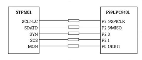 SPI接口与单片机接口原理电路图