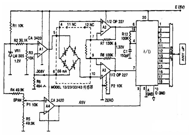 能够实现与传感器兼容的微机电路图