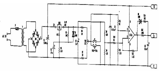 一氧化碳浓度检测电路图