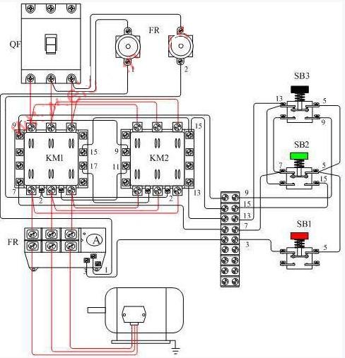电动机正反转控制接线图 二图片