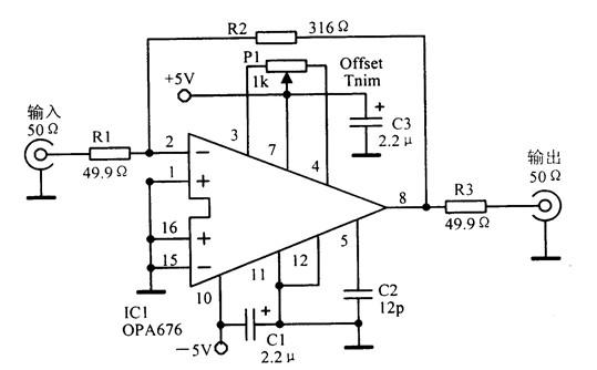 自制的宽带视频放大电路图-便携式电视接收机用单级视频放大器电路图