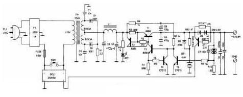 自动控制的电源适配器电路图