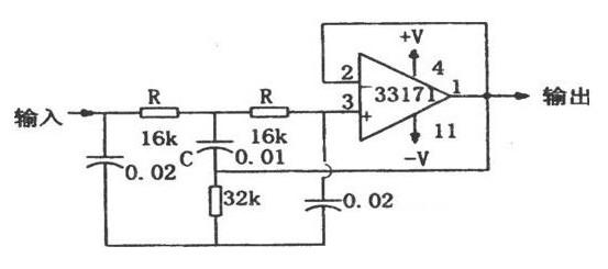 具有高性能的陷波器电路图
