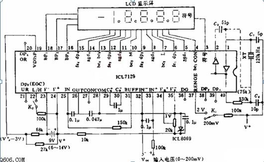四位半数显电压表电路图