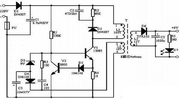 【图】简单的开关电源电路图开关稳压电源