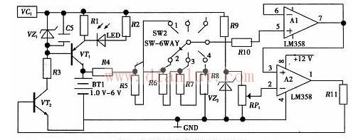 自动充电检测电路图