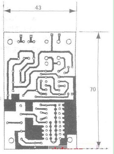 家用遥控电门锁设计的电路图