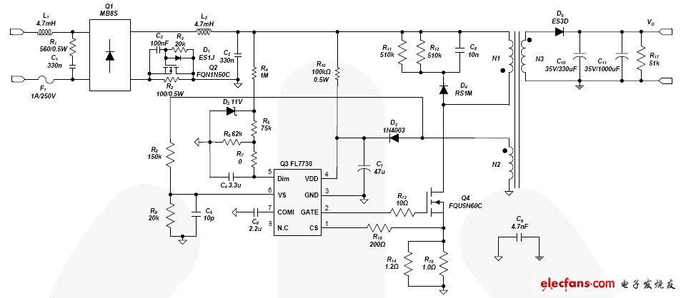 调光LED驱动器原理图