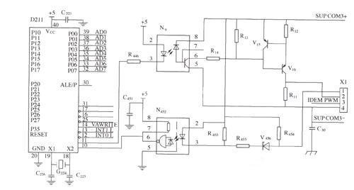 监控与整流模块的通信电路图