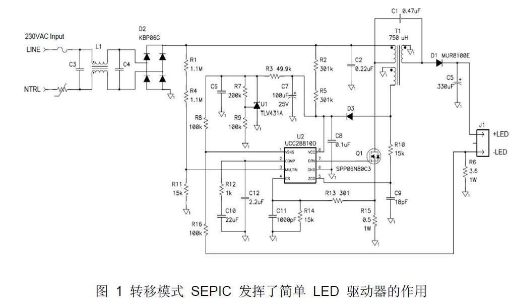 高效驱动LED离线式照明电路设计